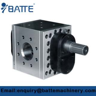 The working principle of the extrusion gear pump