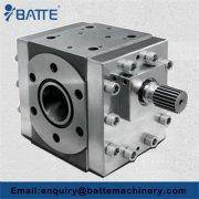 Plastic composite extrusion measuring gear pump